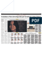 Trasladan a Piura investigación por lavado de activos de Carlos Chávez