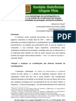 5 - Os critérios e a metodologia da sociolinguística
