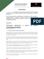 Situación actual de la Industria Hidrocarburífera en Colombia +