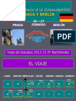 Presentación Oficial Viaje Estudios 2013 2º Bach