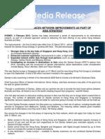 04.02.13. Qantas - Pressemitteilung zur Umstrukturierung der Routen