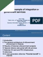 PKI. Estonian example of integration e-government services