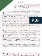 Kalenda Vaticana de Navidad - Partitura