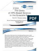 cost of hpc based science