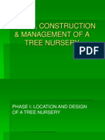 design, construction and management of a nursery