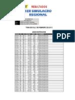 Resultados 1er Simulacro Argos Verano 2013