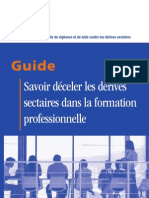Guide Deceler Derives Sectaires Formation Professionnelle