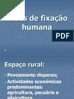 Areas Fixacao Humana