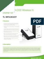 Tl-wp281kit v1 Datasheet