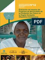 Evaluacion de impacto del programa de microcreditos de la Fundacion Sur Futuro en la Region Enriquillo (Republica Dominicana)