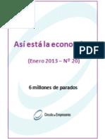Situación del mercado de trabajo -Así está La Economía Enero 2013