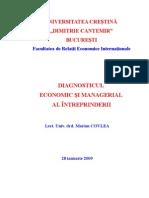 DIAGNOSTICUL ECONOMIC ŞI MANAGERIAL AL ÎNTREPRINDERII