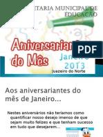 Aniversariantes de Janeiro