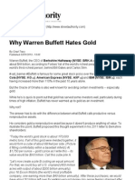 Why Warren Buffett Hates Gold