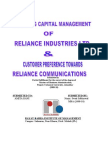 customer perception towards reliance communication.........................................................