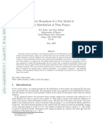 Discrete Reanalysis of a New Model of the Distribution of Twin Primes