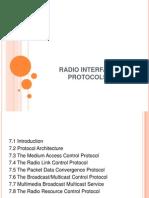 UMTS Radio Interface Protocols