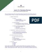Framework for Marketing Planning