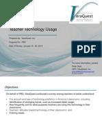 Teacher Technology Usage (2013)