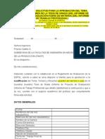 FORMATO SOLICITUD PARA LA APROBACIÓN MODIFICACION DEL TEMA, TEMARIO Y RESUMEN DEL PROYECTO FINAL DE GRADUACIÓN