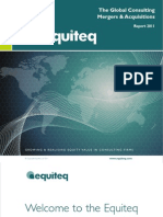 Global consulting Mergers acquisition report 2011