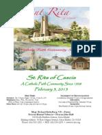 St. Rita Parish Bulletin 2/3/2013