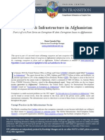 Corruption & Infrastructure in Afghanistan