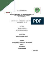 AUTOEVALUACIONES 1-TEORIA POLÍTICA