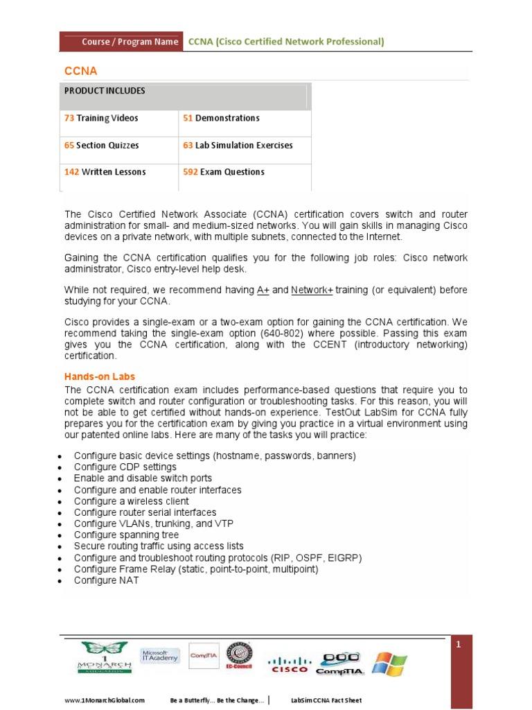 Ccna Cisco Certified Network Professional Cisco Certifications