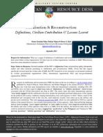 Stabilisation & Reconstruction