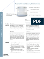 CX 100 Series PIR Ceiling Wall Sensors Cut Sheet