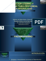 Quinteros, D - Factor Uterino y Tubo-Peritoneal en Infertilidad