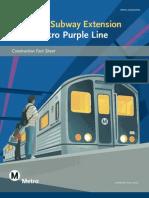 Westside Subway Extension construction factsheet