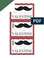 Free Mustache Valentine