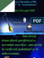 Elaborarea metodică  N 5-Anestezia  tronculară periferică a n. maxilar anestezia la orificiul palatinal şi la tuberozitate-Cracea Alexandru