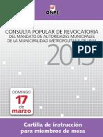 Cartilla para miembro de mesa de Lima Metropolitana