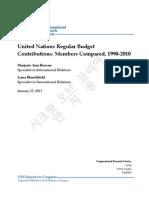 한국 유엔분담금 의회조사국 보고서 20130115
