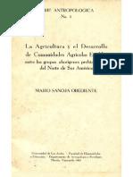 La agricultura y el desarrollo de comunidades agrícolas estables