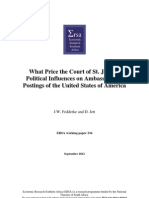 What Price the Court of St. James? Political Influences on Ambassadorial Postings of the United States of America