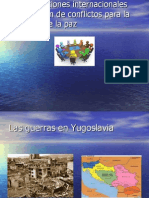 La Organizaciones internacionales y la resolucion de conflictps
