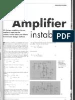 Amplifier Instability