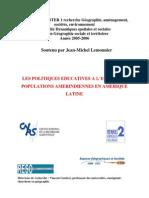 Les Politiques Educatives Indigenistes Jean-michel Lemonnier