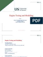 Engine Test & Modeling