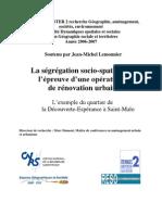 Ségrégation socio-spatiale et rénovation urbaine  Jean-Michel Lemonnier