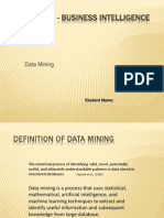 Introduction of Data Mining