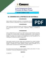 Ley Competencia Penal Procesos de Mayor Riesgo