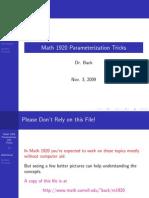 Parameterization Tricks