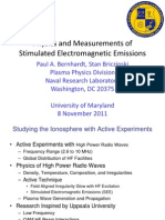 Stimulated Electromagnetic Emissions - Ionosphere Modification Facilities