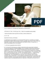 BENEDICT XVI SPEECHES