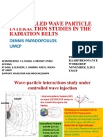 HAARP RESONANCE - CONTROLLED WAVE PARTICLE INTERACTION STUDIES IN THE RADIATION BELTS